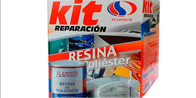 Catalizador Resina de poli/éster Kit 1kg + fibra MAT-300. 1//M/²